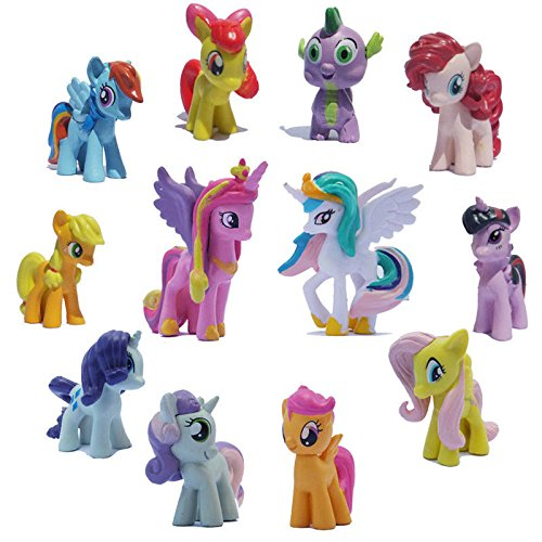 My Little Pony Set 12 pcs Toys | PVC Mini Figure Collection Playset | Kids Decor Cupcake Topper + Pony Stickers by My Little Pony (Image #5)