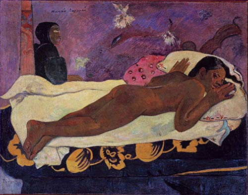$50-$4000 Hand Painted Art Paintings by College Teachers - Paul Gauguin Spirit of The Dead Watching Oil Painting Reproduction - Wall Decor Canvas Old Famous Works -Size02