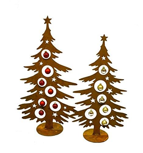 Tannenbaum Edelrost.Metallmichl Edelrost Weihnachtsbaum Metall 60 Cm Hoch Für Christbaumkugeln Christbaum Deko Tanne Baum