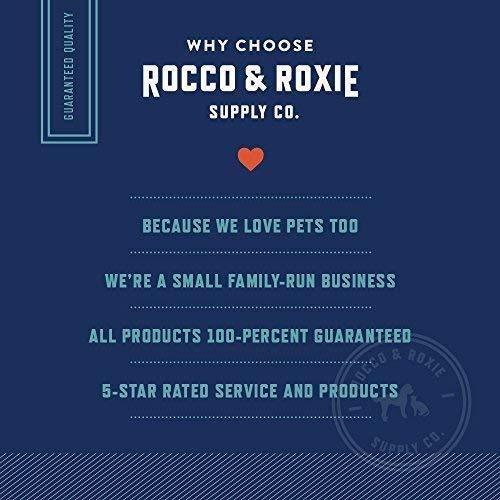 Rocco & Roxie Supply Eliminador de manchas y olores de fuerza profesional, olores y removedores de manchas para mascotas con enzimas para la orina de perros y gatos, limpiador de alfombras para animales pequeños, 32 oz.