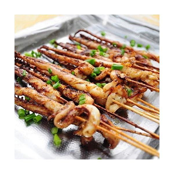 HJCWL 90 Pezzi Forniture per Barbecue Tappetini perBarbecue Attrezzi per Barbecue BBQ monouso Spiedini di bambù Griglia Bastoncini di Legno Shish Barbecue, 3mmx30cm 2 spesavip