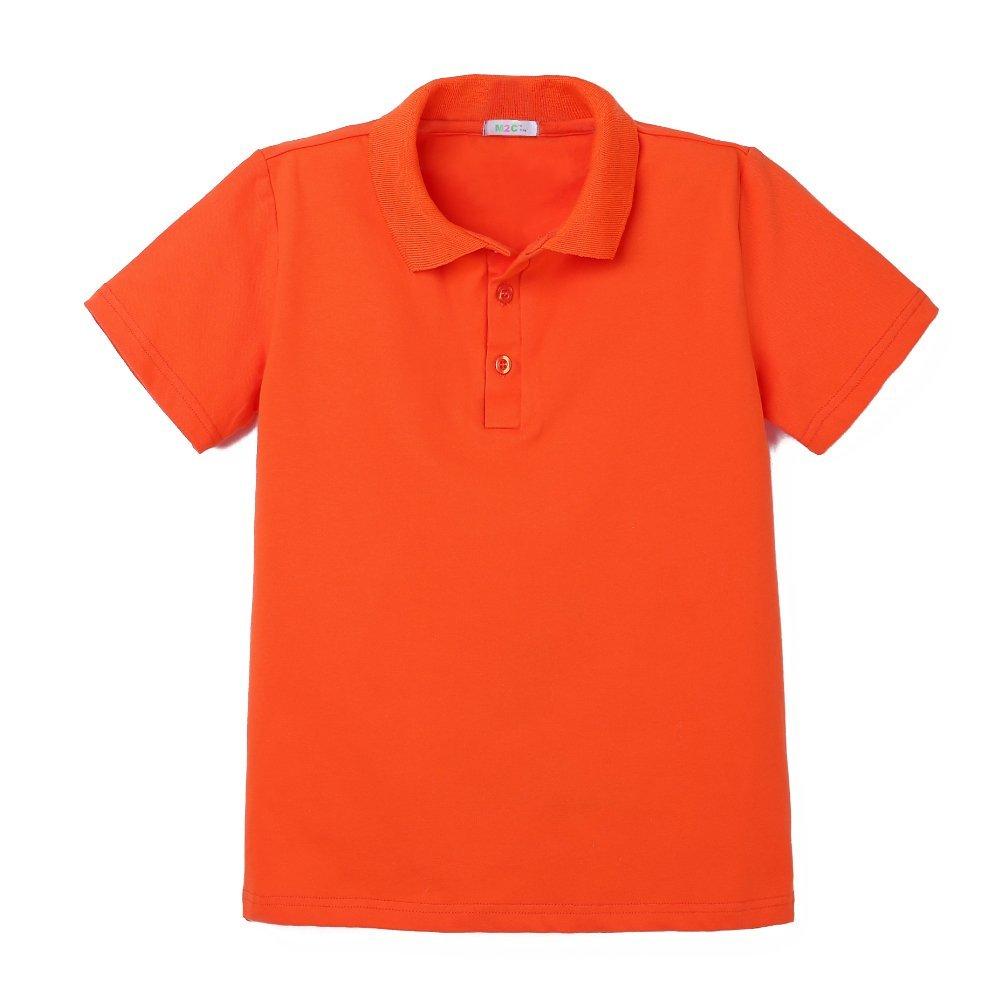 M2C Boys Polo Plus Size Short Sleeve School Uniform Shirts Yellow S 7/8 Plus 10