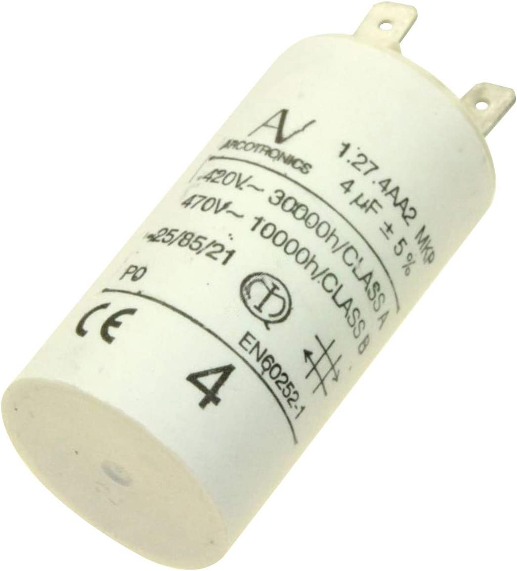 Condensador 4 μf 470 V Campana C00126362 Ariston Hottoint, Schultes, Ikea Whirlpool: Amazon.es: Grandes electrodomésticos