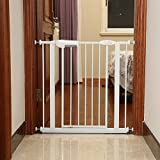 Bonnlo Easy Step Walk Thru Gate Baby Fits Spaces between 29″ to 32″ Wide with Extra Wide Opening 20.3″ For Sale