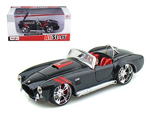 1965 Shelby Cobra 427 S/C Black All Stars 1/24 Diecast Car Model by Maisto 31325bk