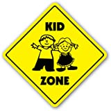 KID ZONE Sign xing gift novelty children child play slow be safe caution