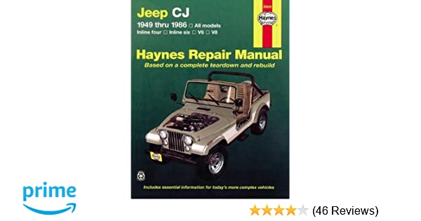 jeep cj 49 86 haynes repair manuals larry warren john h haynes rh amazon com
