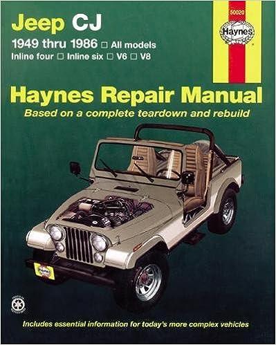 Jeep cj 4986 haynes repair manuals larry warren john h haynes jeep cj 4986 haynes repair manuals 1st edition fandeluxe Choice Image