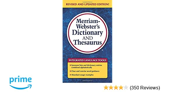 Merriam websters dictionary and thesaurus newest edition c 2014 merriam websters dictionary and thesaurus newest edition c 2014 merriam webster 9780877798637 amazon books m4hsunfo