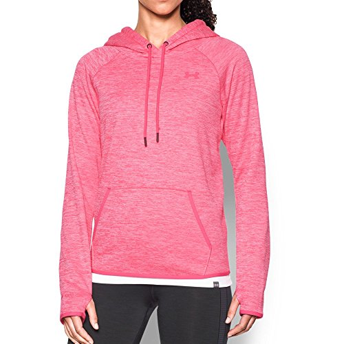 (Under Armour Women's Storm Armour Fleece Icon Twist Hoodie, Pink Sky/Pink Sky, X-Small)