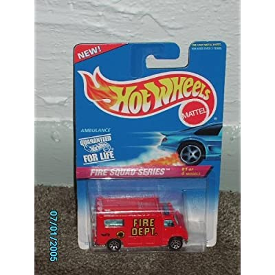 Hot Wheels Ambulance Fire Squad Series #1 of 4 models: Toys & Games