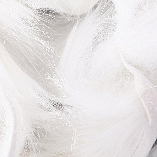 (Hareline Dubbin Crosscut Rabbit White)