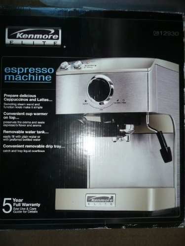 Kenmore Elite Stainless Steel Espresso Machine