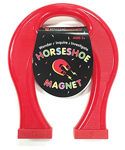 (Dowling Magnets HS01 Giant Horseshoe Magnet (8.5 inches high x 7 inches Wide x 1.125 inches Thick), x x, Red)