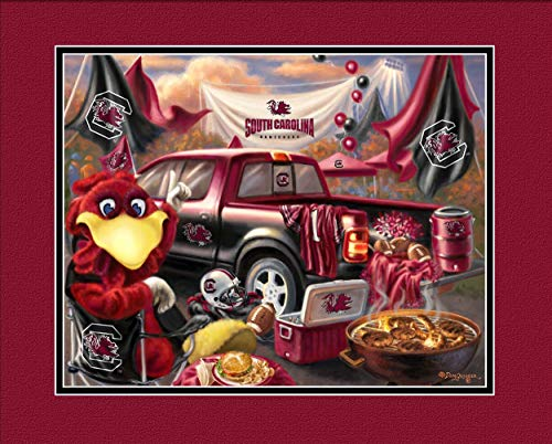 Prints Charming College Tailgate South Carolina Gamecocks Unframed Poster 12x16 Inches