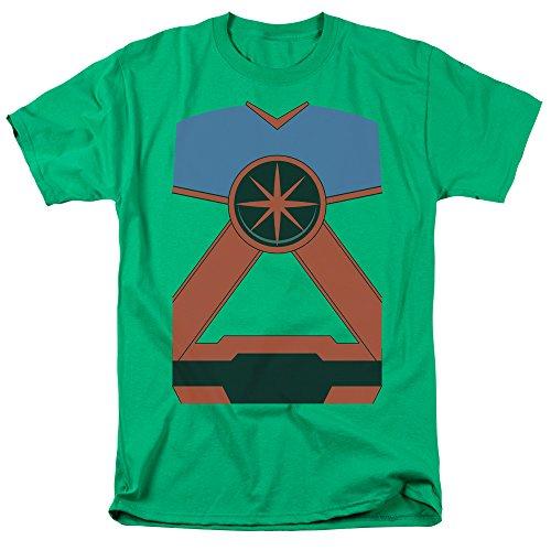 Justice League Of America DC Comics Martian Manhunter Costume Adult T-Shirt (Martian Manhunter Costume)