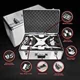 Ultimaxx Aluminum Carrying Case w/Handle for DJI Phantom 4, Phantom 4 Advanced and Phantom 4 Pro Series Quadcopter Drones, Fits Extra Accessories