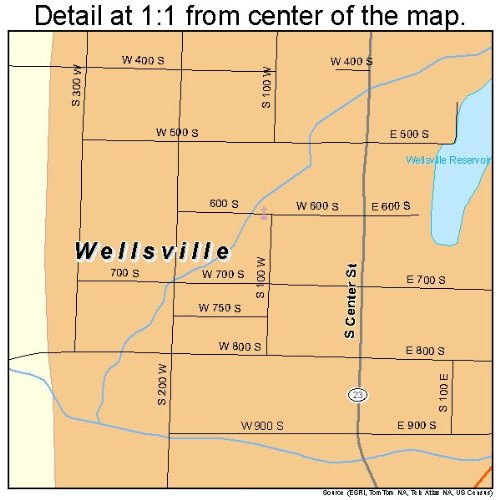 Wellsville Utah Map.Amazon Com Large Street Road Map Of Wellsville Utah Ut Printed