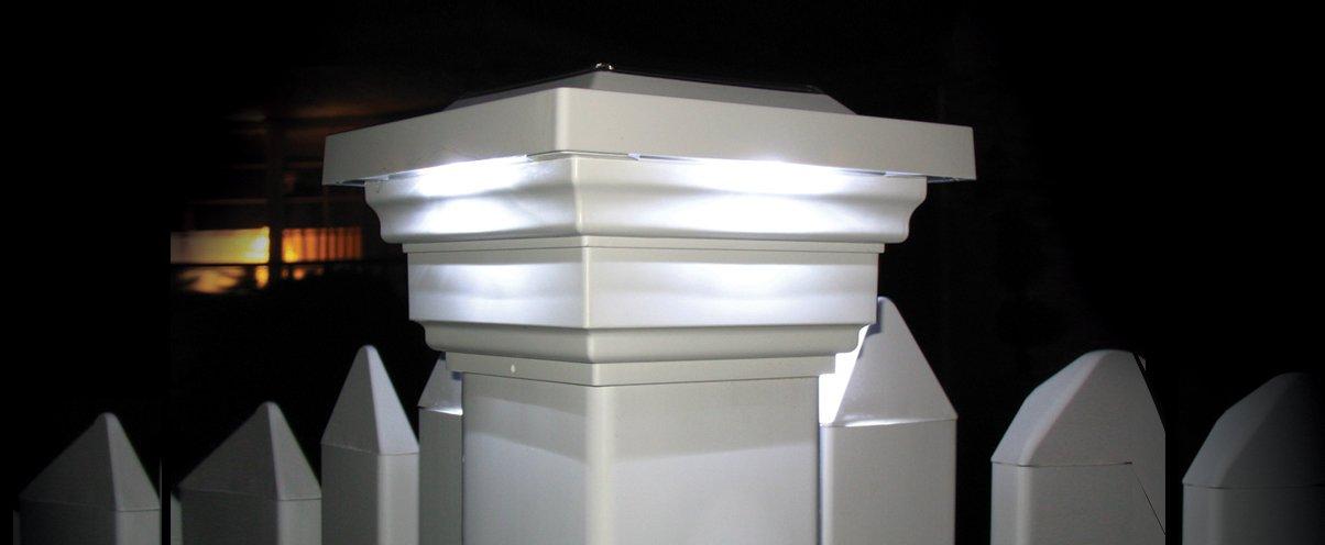 Classy Caps SL078W 4x4 Regal Solar Post Cap - 10 Pack/White