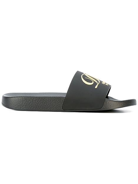 Dolce   Gabbana Sandali Donna CW0048AG80980999 PVC Nero Oro  Amazon ... 6ecc5aa3c6e