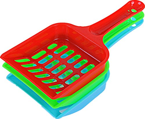 Litter Scoop, Sifter with Deep Shovel - Design for Pets Cat Dog, Durable Plastic Scooper. with Ecnomic Price (Breeze Litter Scooper)
