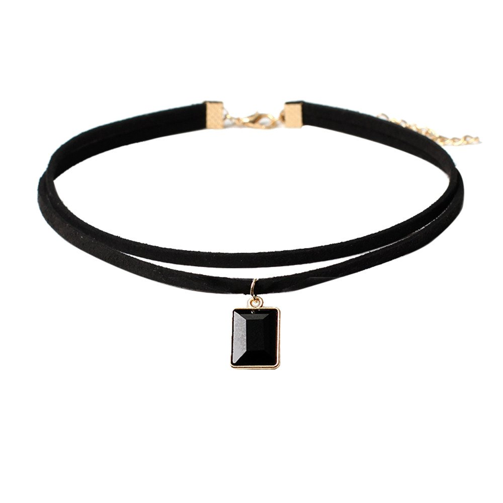 Mysky 1 Pieces Choker Necklace Set Stretch Velvet Classic Gothic Tattoo Lace Choker Black
