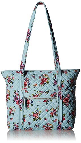 Vera Bradley Iconic Small Vera Tote, Signature Cotton, Water Bouquet