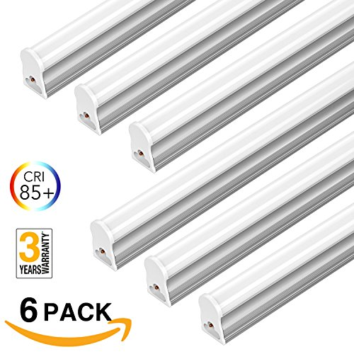 FrenchMay-LED-T5-mini-utility-linkable-shop-light-4ft-22W-85CRI-2200Lumens-5000K-32w-Fluorescent-Equivalent-integrated-ceiling-light-under-Cabinet-shop-light-for-garage-workshop-basement