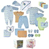 24-Piece Gift Cube, Blue, 0-6M