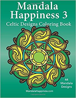 amazoncom mandala happiness 3 celtic designs coloring book volume 3 9781514180204 j bruce jones books - Celtic Coloring Book