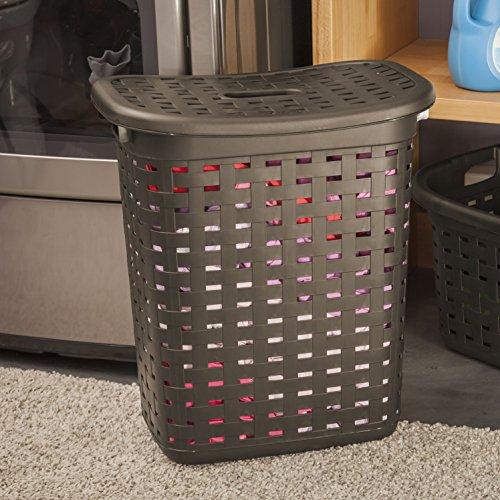 Sterilite 12766P04 Weave Laundry Hamper, Espresso, 4-Pack by STERILITE (Image #4)
