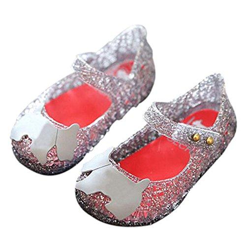 Meijunter Baby Mädchen Jungen Mode Atmungsaktiv Niedlich Weich Gelee Lässige Flache Schuhe Kinder Säugling Sandals Regen Stiefel Schwarz