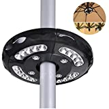 GHT Patio LED Umbrella Pole Light Outdoor Wireless Camping Tent Bulbs Night Lights Lawn Lamp Black Yard Home Cordless Camping Tent Wireless Easy Mounting Illuminating Lights Emergency Garden