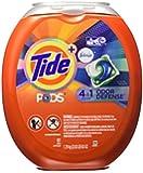 Tide Pods Plus Febreze Odor Defense Laundry Detergent Pacs, Active Fresh Scent, 61 Count
