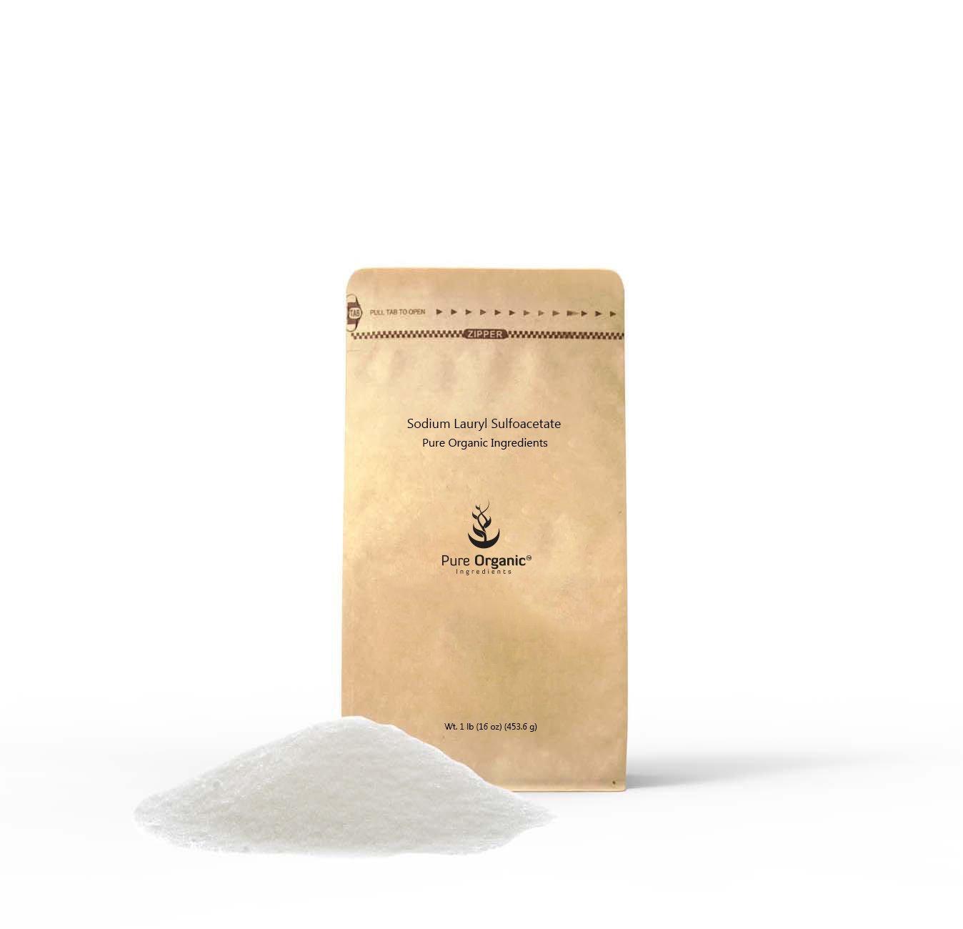 Sodium Lauryl Sulfoacetate (1 lb (16 oz)(Multiple Sizes)(Bath Bomb additive)(Gentle on Skin)