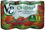 Campbell's V8 Juice 5.5 oz, 6-Count (Pack of 8)