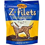 Zukes Pouch Z-Filets Basted Beef Dog Treats 3.25oz, My Pet Supplies