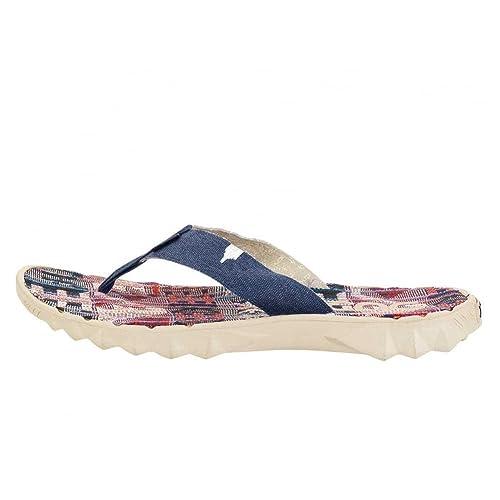 3404365c0e9e Hey Dude Shoes Sava Incas Red Canvas Flip Flop 40 1  Amazon.co.uk  Shoes    Bags