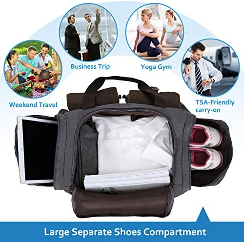 show original title Details about  /Sports and Travel Bag Canvas Duffel Universal Bag Pure Cotton 70 L