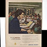 American Airlines America's Leading Airline Reservations Agent She Makes Friends As Well As Reservations 1950 Vintage Antique Advertisement