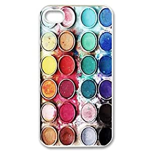 YNACASE(TM) Watercolor Palette DIY Cover Hard Back Cover Case for iPhone 4,4G,4S,Personalized Phone Case with Watercolor Palette