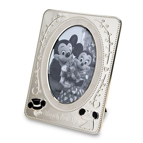 Disney Parks Exclusive Minnie Mickey Wedding Metal 5x7 Picture Photo Frame