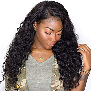 8c7dee2c1d1 Coco's Hair Human Hair Lace Front Water Wave Wigs Glueless 130% Density  Brazilian Virgin Remy...