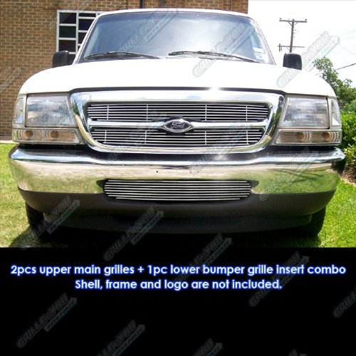 APS Fits 98-2000 Ford Ranger Billet Grille Combo Insert #F61036A