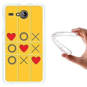 WoowCase - Funda Gel Flexible { Acer Liquid Z520 } Juego de Amor con Corazones Carcasa Case Silicona TPU Suave
