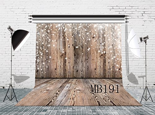 LB Rustic Wood Floor Photo Backdrop 8x8ft Vinyl Retro Wooden Wall Photography Background for Wedding Smash Cake Birthday Party Portraits Photo Studio Backdrop