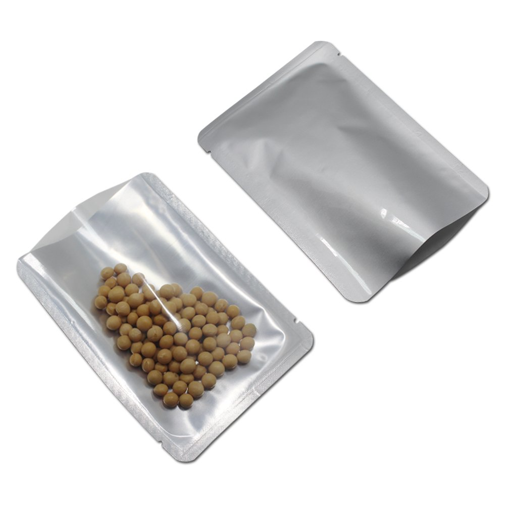 12 x 23 cm キッチン収納 オープントップ 純アルミニウム マイラー 保存用バッグ 食品 貯蔵包装袋 ヒートシール アルミフォイルポーチ 食品バッグ コーヒー 茶 スナック 保存袋 (300) B07K8H499W  300