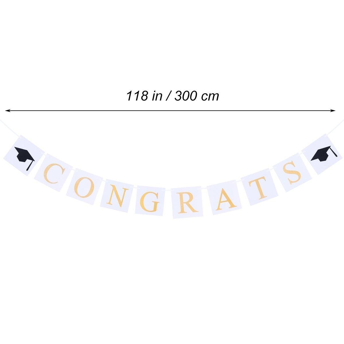 LUOEM Congrats Banner Felicitaciones Signo Graduation Party ...
