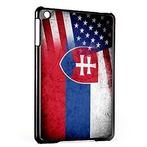 Case for Apple iPad Mini - Gen 1 & 2 - Flag of Slovakia & USA - Slovak - Rustic