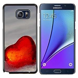 YiPhone /// Prima de resorte delgada de la cubierta del caso de Shell Armor - El amor del Corazón de Invierno - Samsung Galaxy Note 5 5th N9200